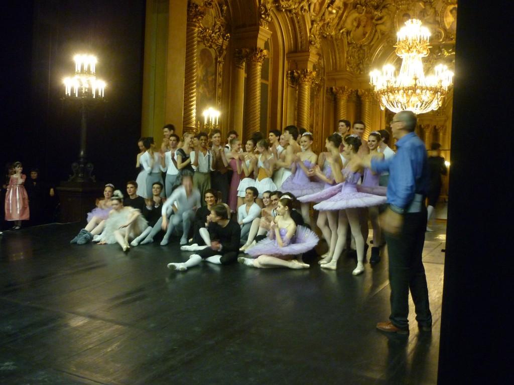 Jeunes danseurs dans le petit foyer de la danse